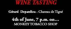 Monkey Tobacco - Wine Tasting